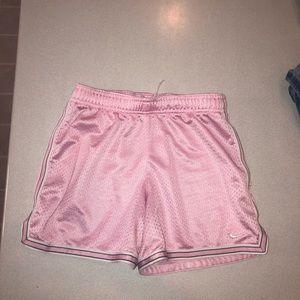 Pink nike athletic shorts